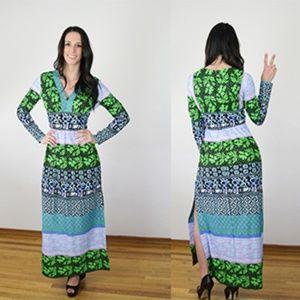 Vintage 70s Boho Maxi Dress